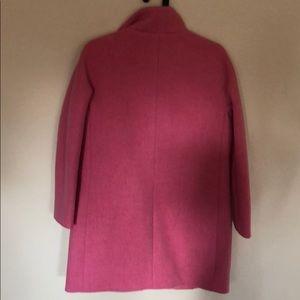 J. Crew Jackets & Coats - NWT J. Crew Stadium cloth pink cocoon coat jacket